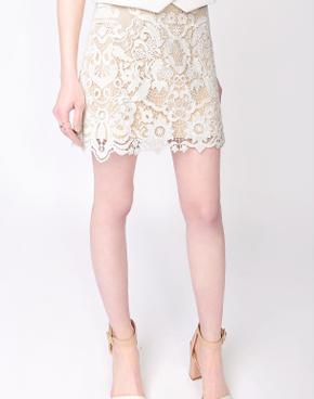 显瘦时尚拼接欧根纱蕾丝衫